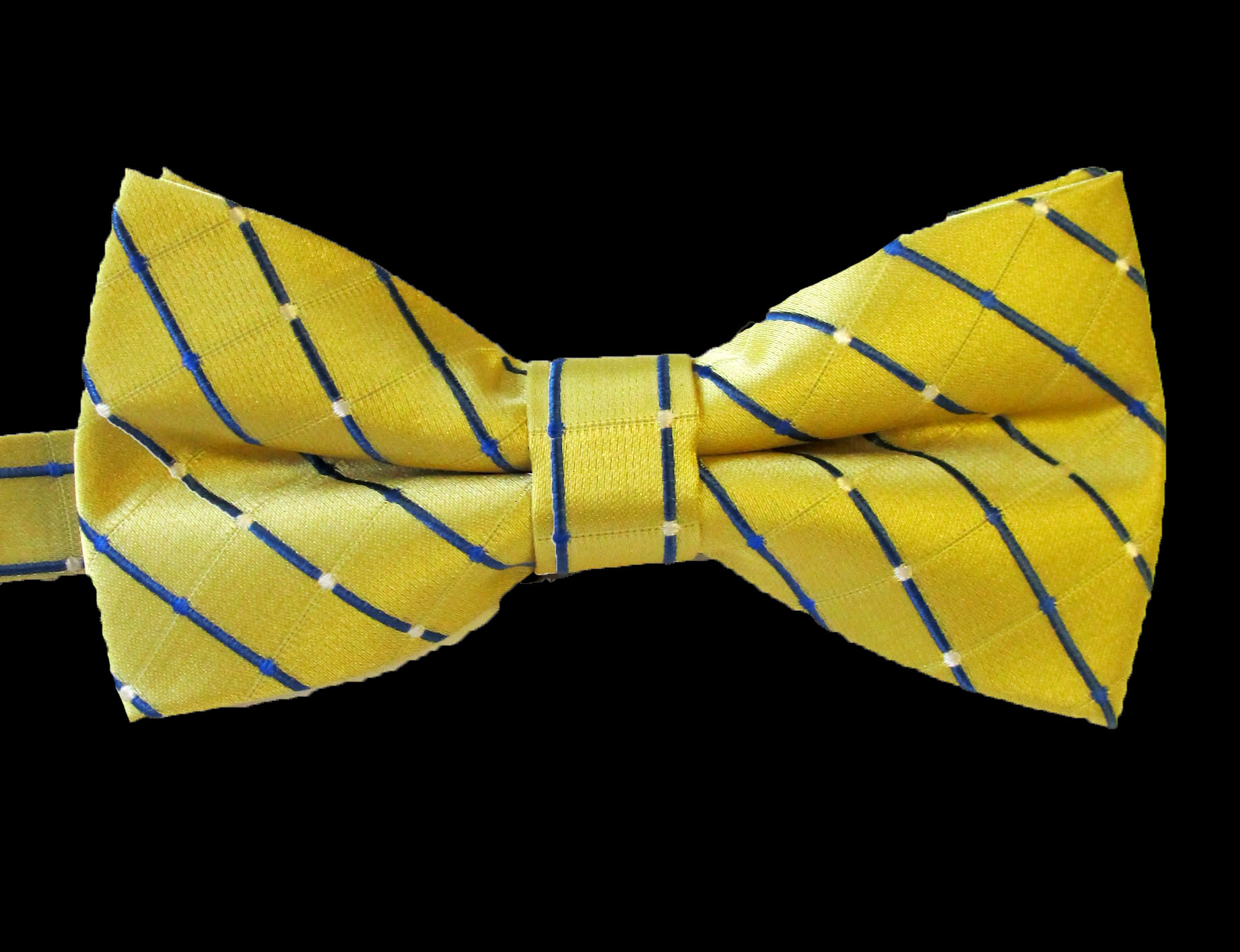 Career Pattern Bow Tie Yellow Blue Stripe​ - In Stock