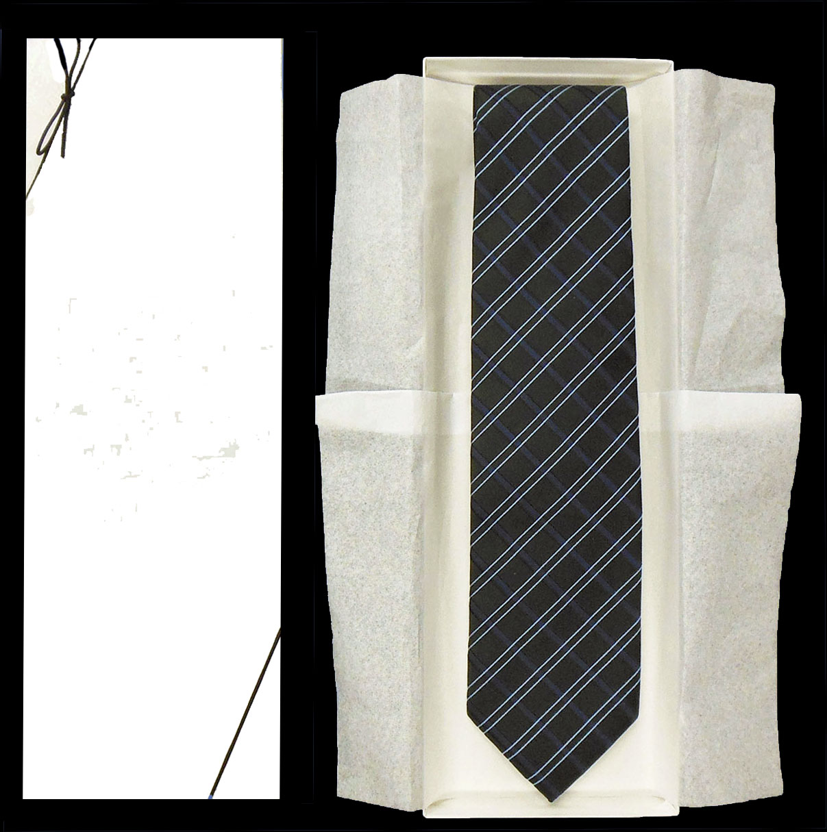 Gift Box White NonPrinted Packaging for Ties or Scarves