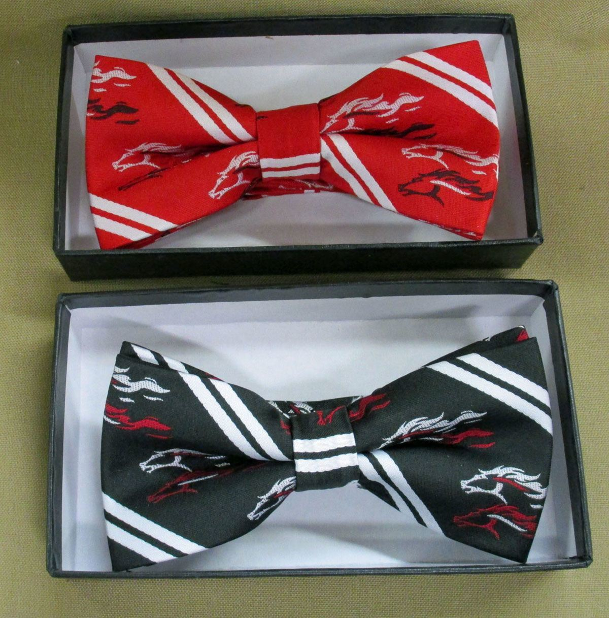 Bat Bow Tie (Tie Yourself) Woven Silk with Custom Logo