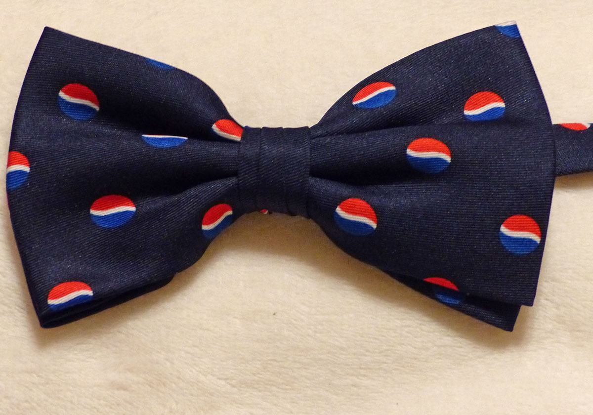 custom woven band bow tie poly silk blend