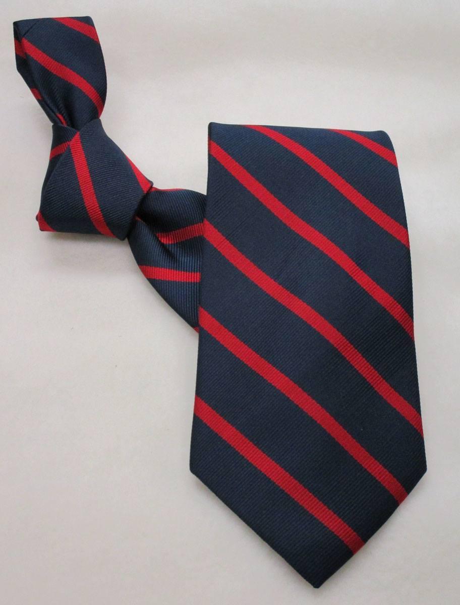 Career Pattern  Tie  Navy & Red Stripe - In Stock