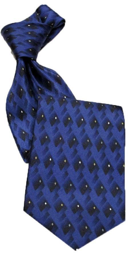 "Career Pattern  Tie  ""Venice"" Blue In-Stock"