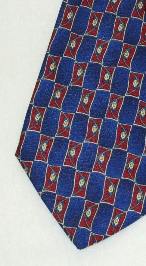 """Career Pattern  Tie """" Madrid """" Blue - In Stock"""