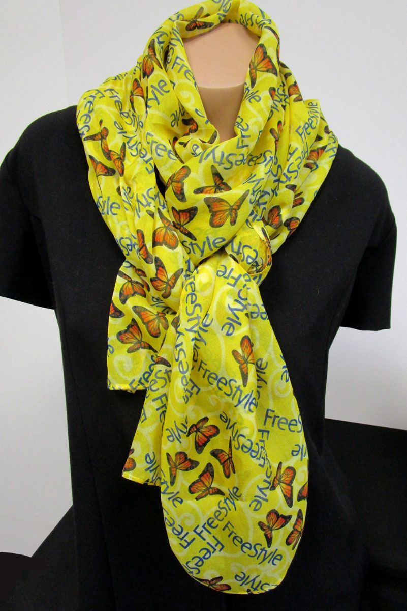 Silk Chiffon Dress Scarf - Custom Design Custom Logo