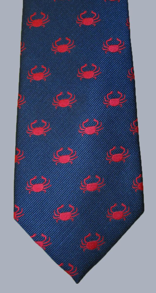 Stock - Crab Print Tie