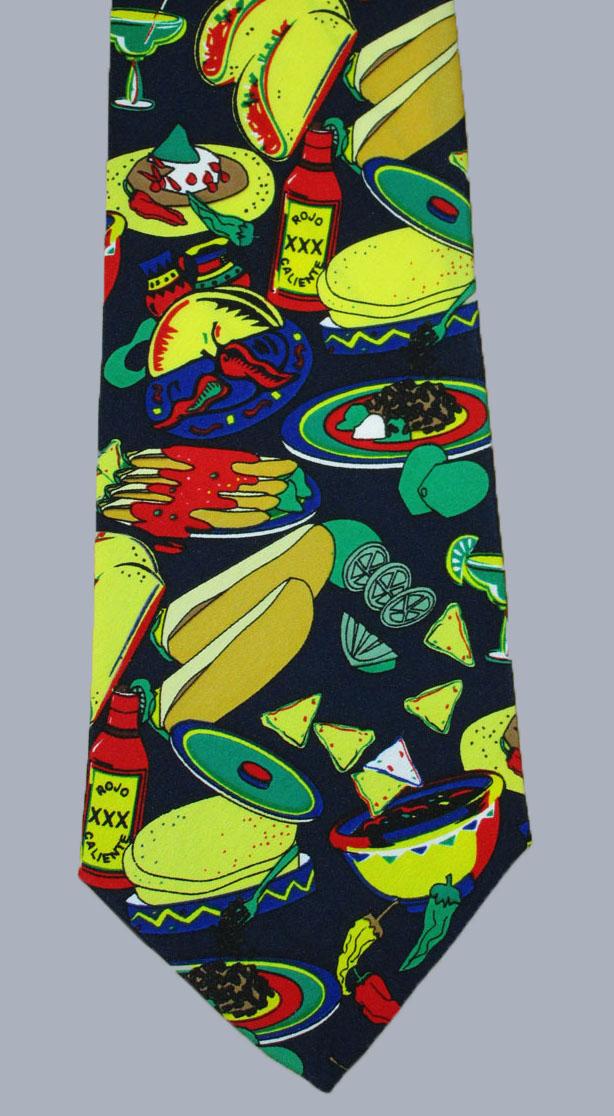 Stock - Tex Mex Print Tie