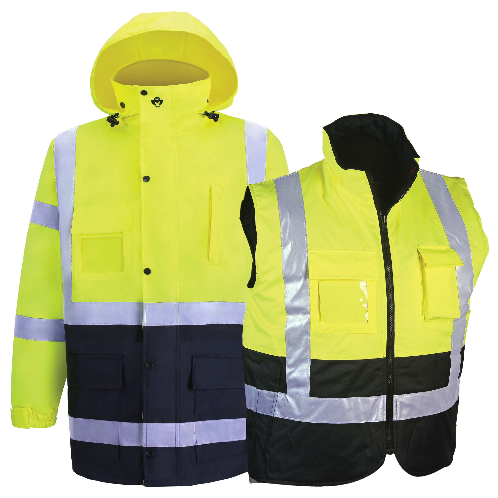 HIGH VIZ RAIN PARKA AND BODY WARMER-2W International