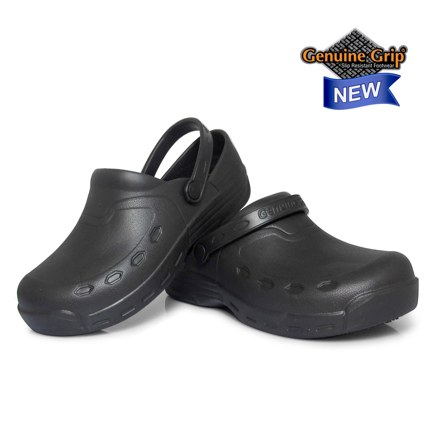 Genuine Grip Men #3900 Open Back Injection Clogs-Genuine grip