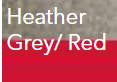 Heather Grey/ Red