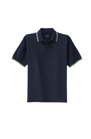 Port Authority Cool Mesh Polo with Tipping Stripe Trim.-Port Authority