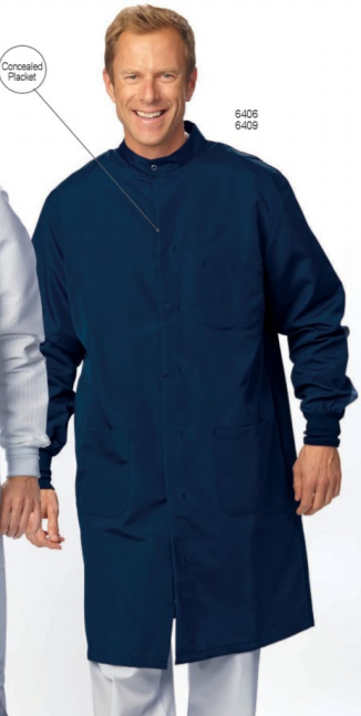 OSHA LAB COAT CIEL BLUE-POS
