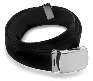 Cotton Web Belt w/Silver Buckle-Samuel Broome