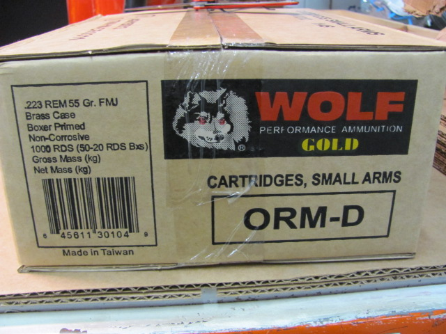 WOLF GOLD 223 .55GR AMMUNITION 1,000RDS-