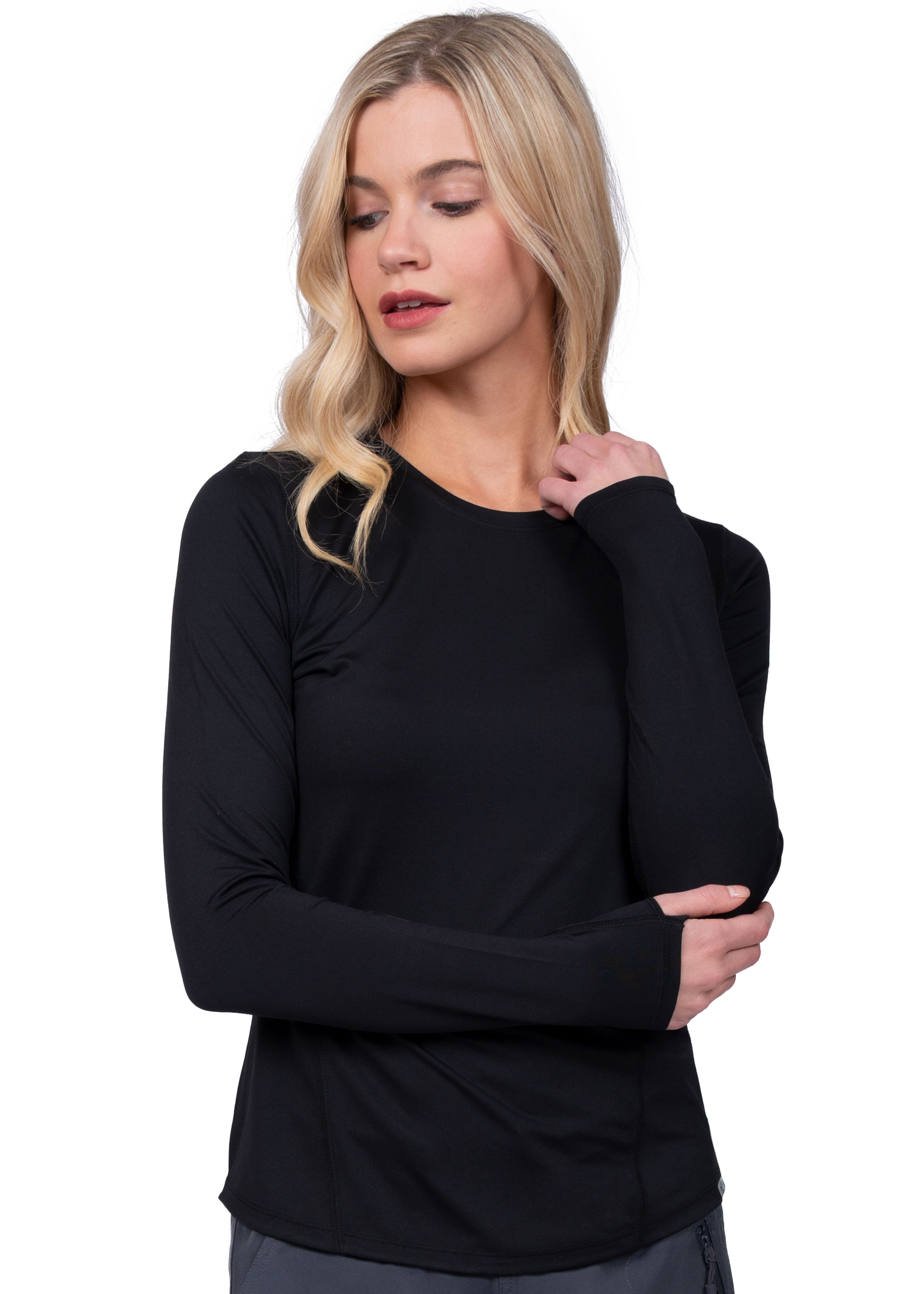 Lily Brushed Knit Tee Shirt - Ava Therese-Ava Therese Scrubs