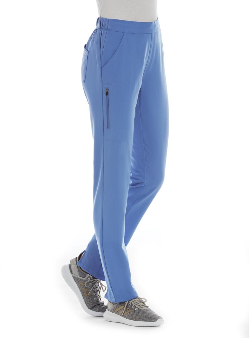 Ladies Half Knit Waistband Tapered Leg Pant - IRG Elite -IRG