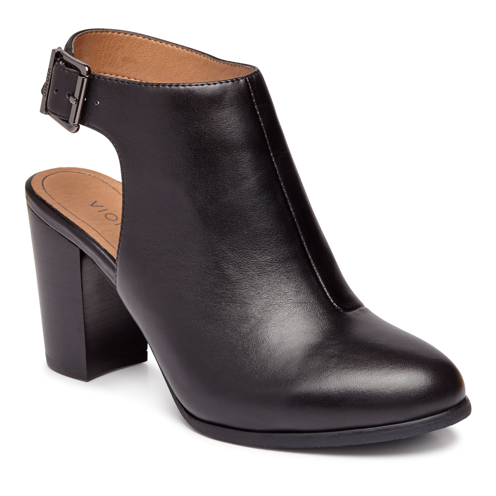 Vionic Perk Lacey Ankle Strap Bootie-Vionic Shoes