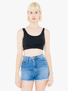 Ladies Cotton Spandex Crop Tank Top