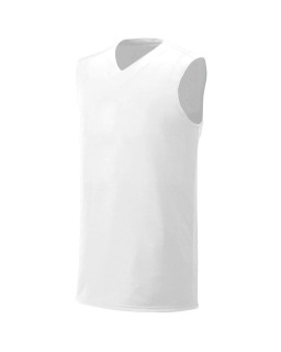 Adult Moisture Management V Neck Muscle Shirt