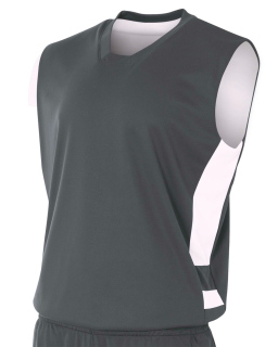 Adult Reversible Speedway Muscle Shirt-A4