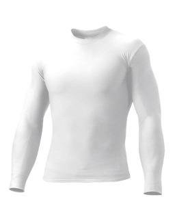 Adult Polyester Spandex Long Sleeve Compression T-Shirt-