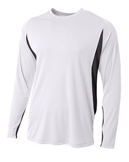 Mens Long Sleeve Color Block T-Shirt-