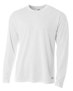 Mens Birds-Eye Mesh Long Sleeve T-Shirt-