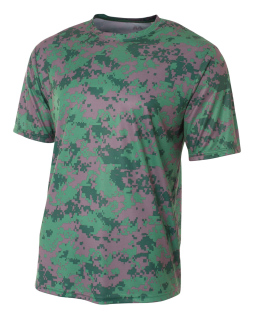 Mens Camo Performance Crew T-Shirt-