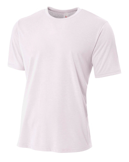 Mens Shorts Sleeve Spun Poly T-Shirt-