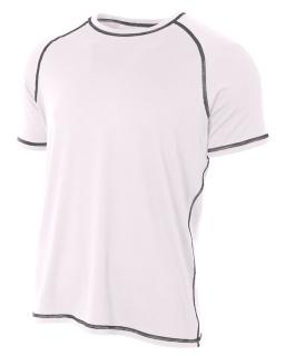 Mens Raglan Tee Shirt w/ Flatlock Stitching-