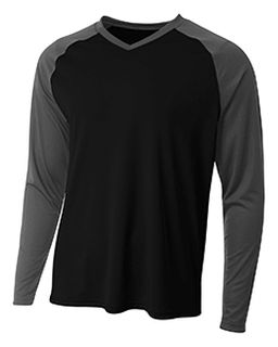 Mens Long Sleeve Strike Raglan T-Shirt-A4