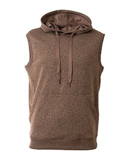 Mens Agility Sleeveless Tech Fleece Pullover Hooded Sweatshirt-A4