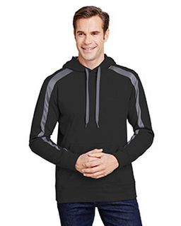 Mens Spartan Tech-Fleece Color Block Hooded Sweatshirt-