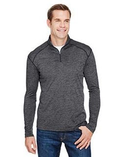 Mens Tonal Space-Dye Quarter-Zip-