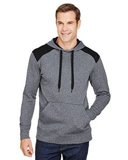 Mens Tourney Color Block Tech Fleece Hooded Sweatshirt-