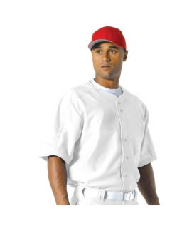 Mens Warp Knit Baseball Jersey-