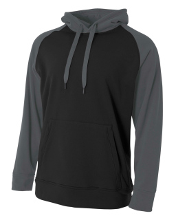 Mens Color Block Tech Fleece Hoodie-