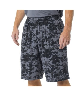 "Adult 10"" Inseam Printed Camo Performance Shorts-"