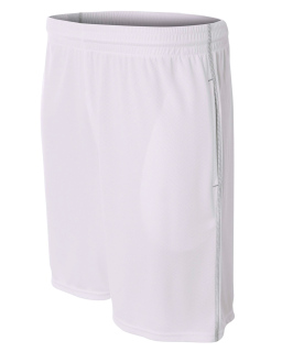 Mens Flat Back Mesh Shorts w/ Contrast Stitching-