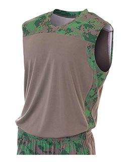 Youth Camo Performance Muscle Shirt-