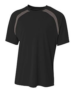 Boys Spartan Short Sleeve Color Block Crew Neck T-Shirt-