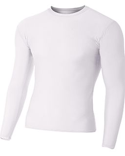 Youth Long Sleeve Compression Crewneck T-Shirt-