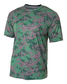 Youth Camo Performance Crew T-Shirt-