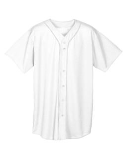 Youth Short Sleeve Full Button Baseball Jersey-