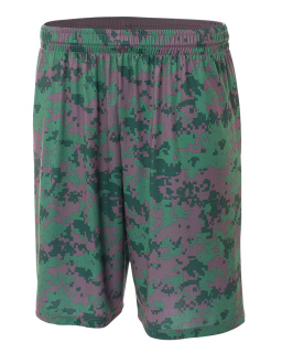"Youth 8"" Inseam Printed Camo Performance Shorts-"