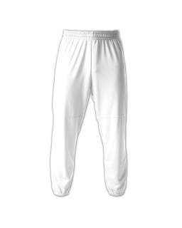 Youth Elastic Waist Doubleknit Polyester Baseball Pant-
