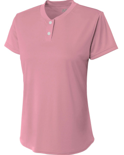 Ladies Tek 2-Button Henley Shirt-