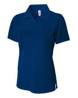 Ladies Textured Polo Shirt w/ Johnny Collar-