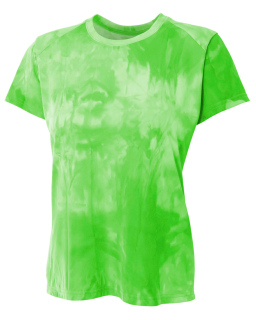 Ladies Cloud Dye Tech T-Shirt-