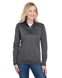 Ladies Tonal Space-Dye Quarter-Zip-A4