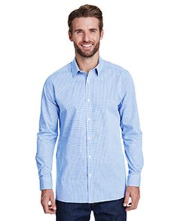 Mens Microcheck Gingham Long-Sleeve Cotton Shirt-Artisan Collection by Reprime